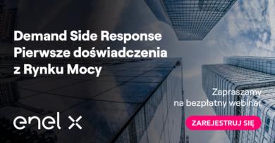 Webinar Enel X - Demand side Response, Pierwsze doświadczenia z Rynku Mocy